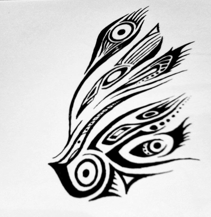 Tribal Feather Tattoo Design photo - 2