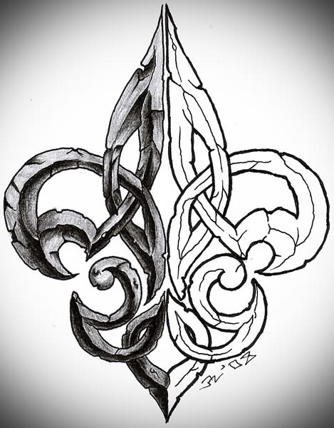 Tribal Fleur De Lis Tattoo Designs photo - 2