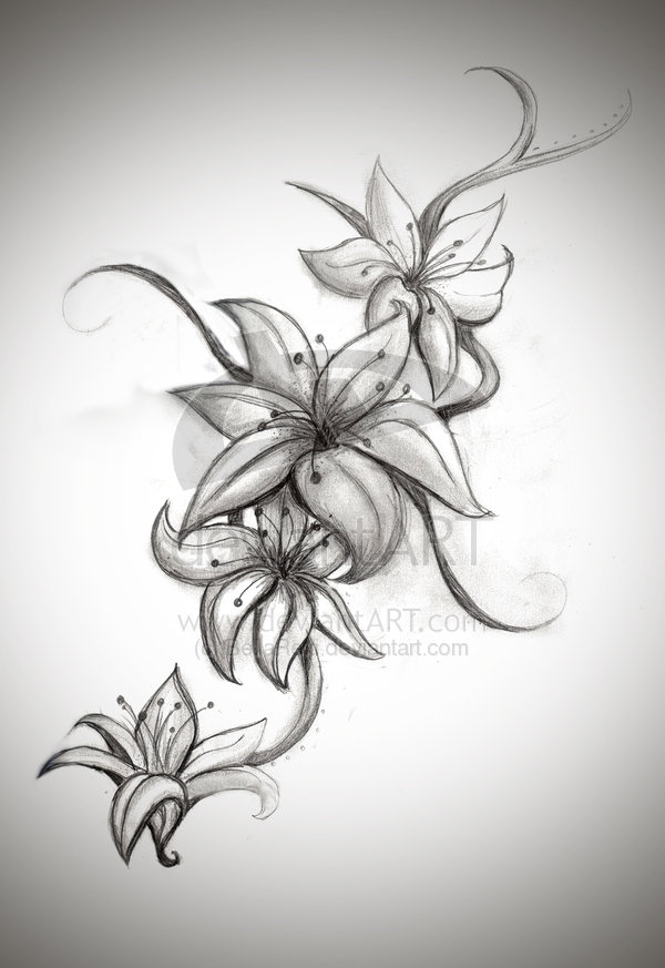 Tribal Fleur De Lis Tattoo On Upper Back photo - 2