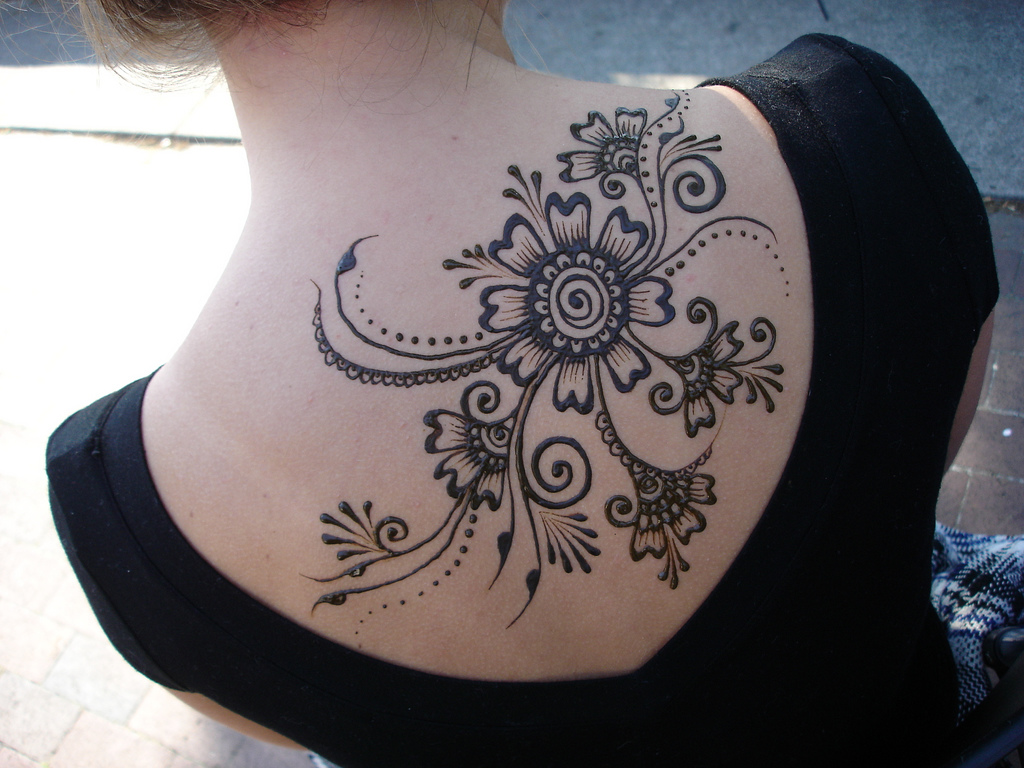 Tribal Flower Tattoo Print photo - 2