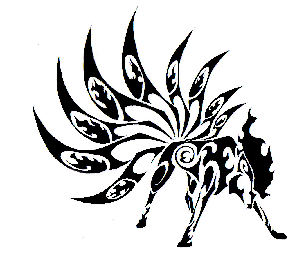 Tribal Flowers Tattoo Designs photo - 3