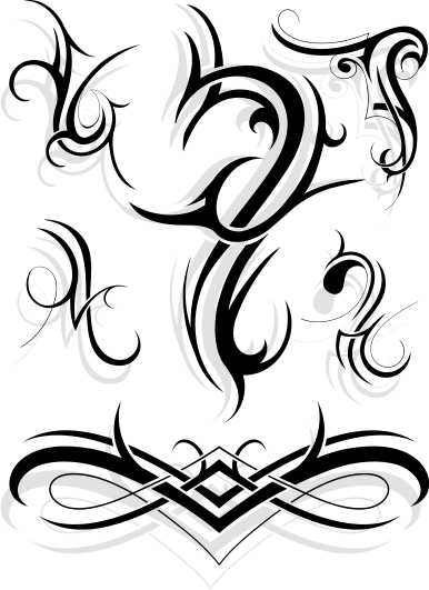 Tribal Flowers Tattoos On Back For Women photo - 1