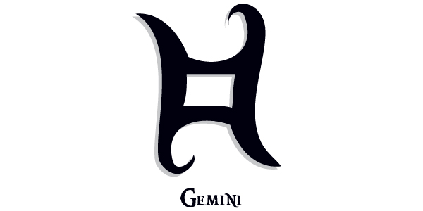 Tribal Gemini Butterfly Tattoo Stencil photo - 1