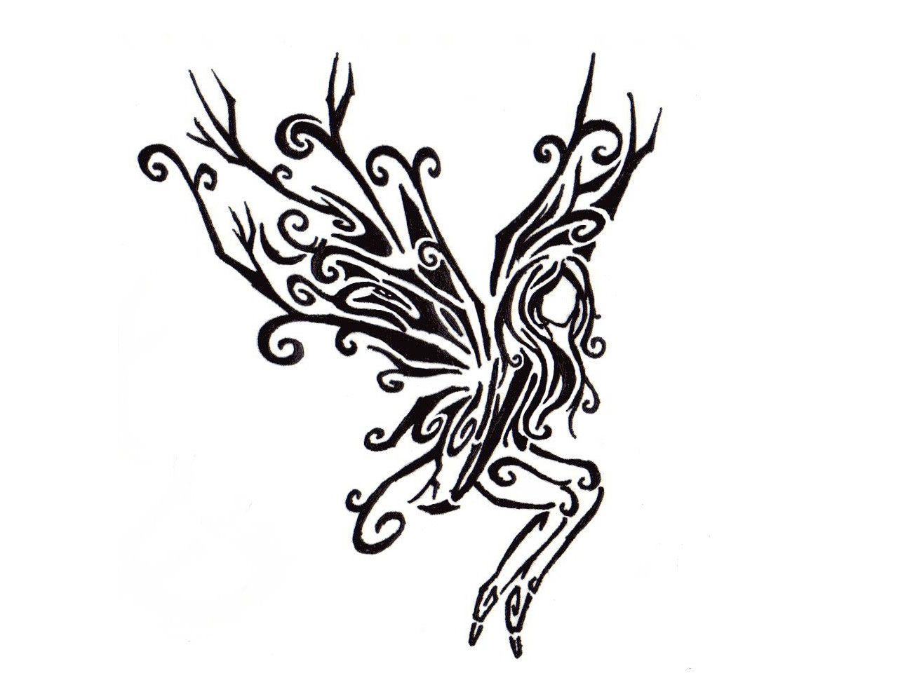 Tribal Gothic Tattoo Design For Back photo - 1