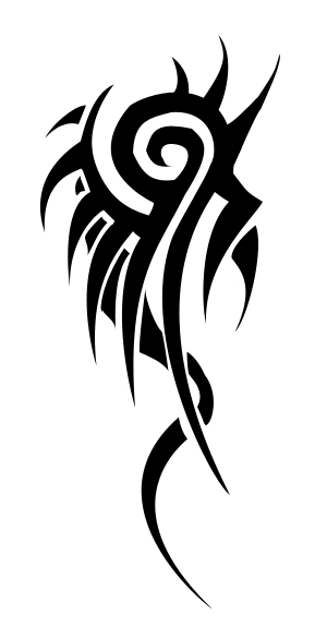Tribal Gothic Tattoo Design For Back photo - 2