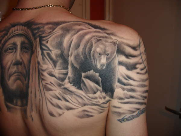 Tribal Grizzly Bear Tattoo Designs photo - 2