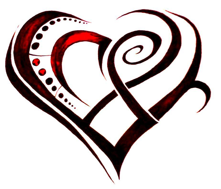 Tribal Heart Tattoo Design photo - 1