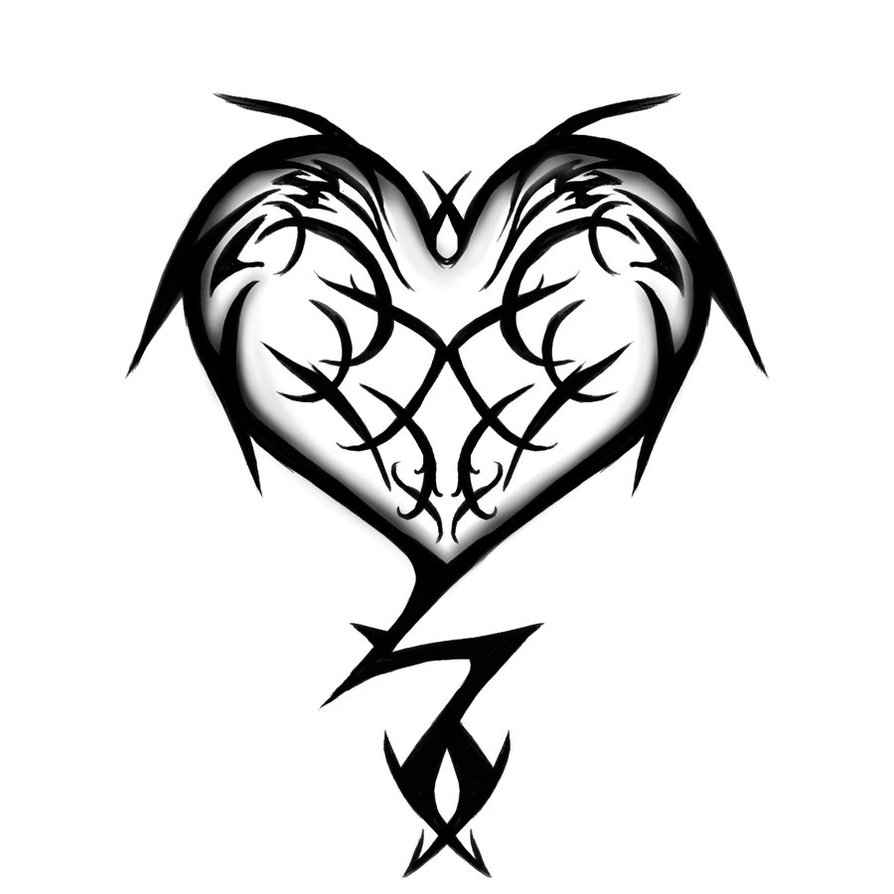 Tribal Heart Tattoo Design photo - 2