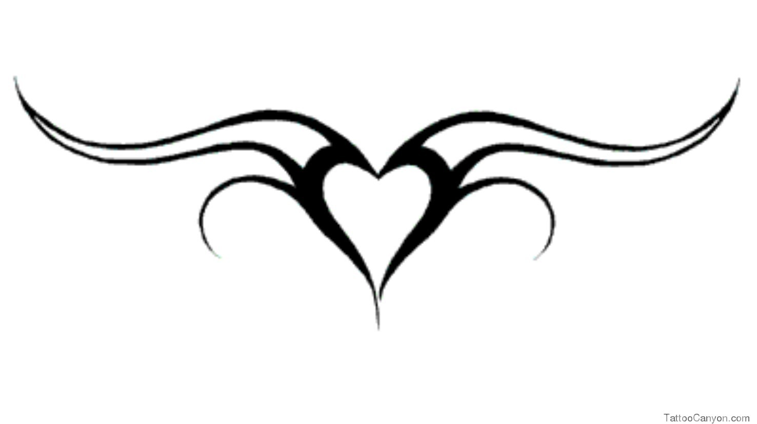 Tribal Heart Tattoo Design photo - 3