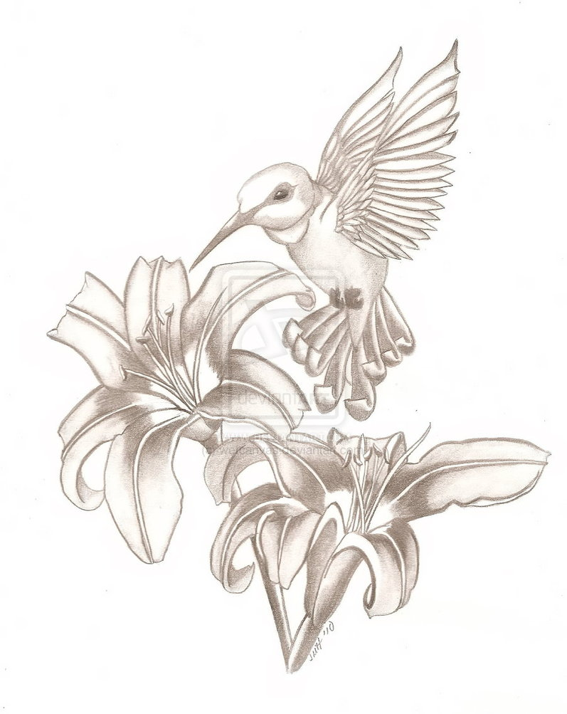 Tribal Hummingbird Tattoo For Girls photo - 3