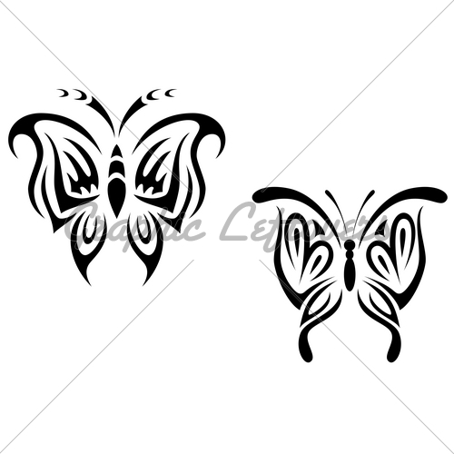 Tribal Insect Tattoo Graphic photo - 2