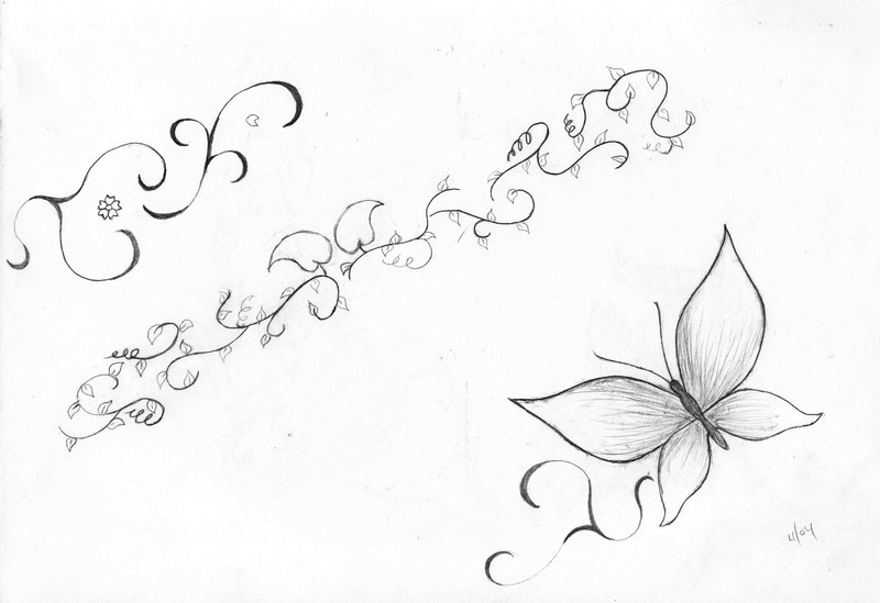 Tribal Ivy Vine Tattoo Stencil photo - 2
