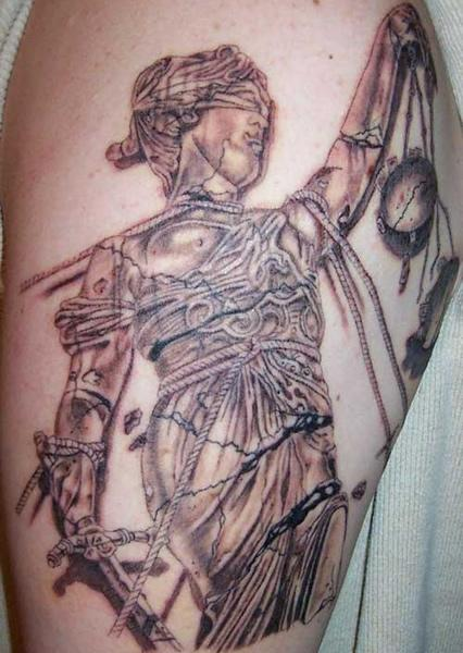 Tribal Lady Of Justice Tattoo Design photo - 2