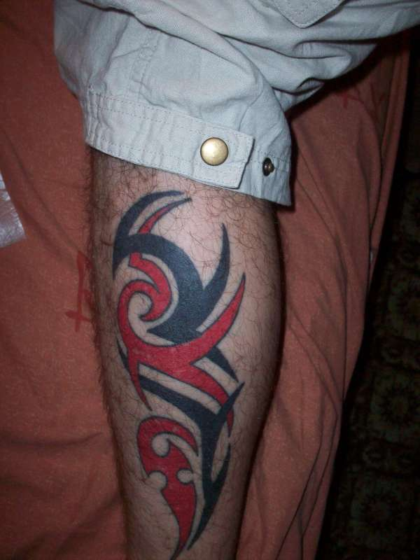 Tribal Leg Tattoo Images photo - 3