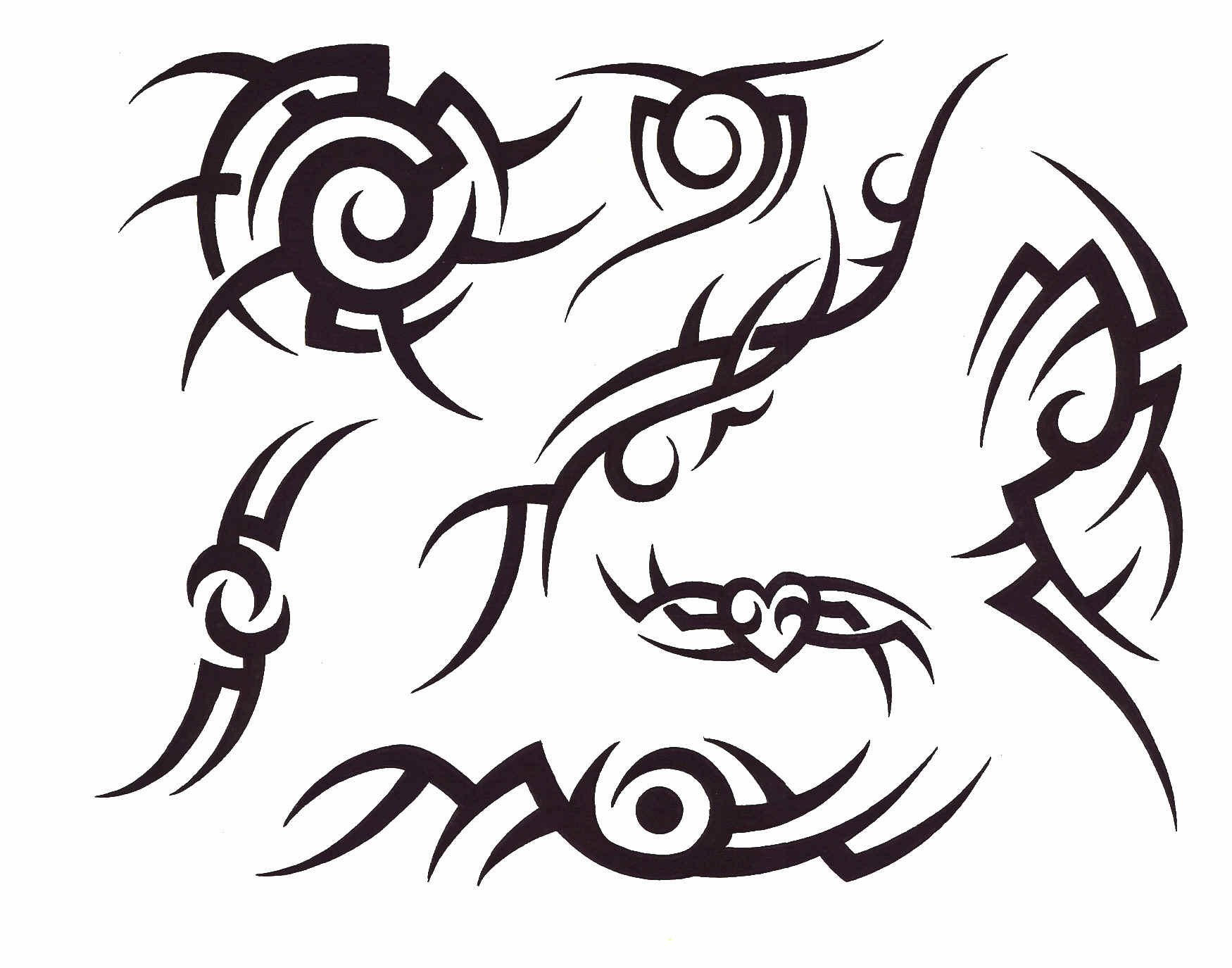 Tribal Lettering Tattoo Design photo - 1