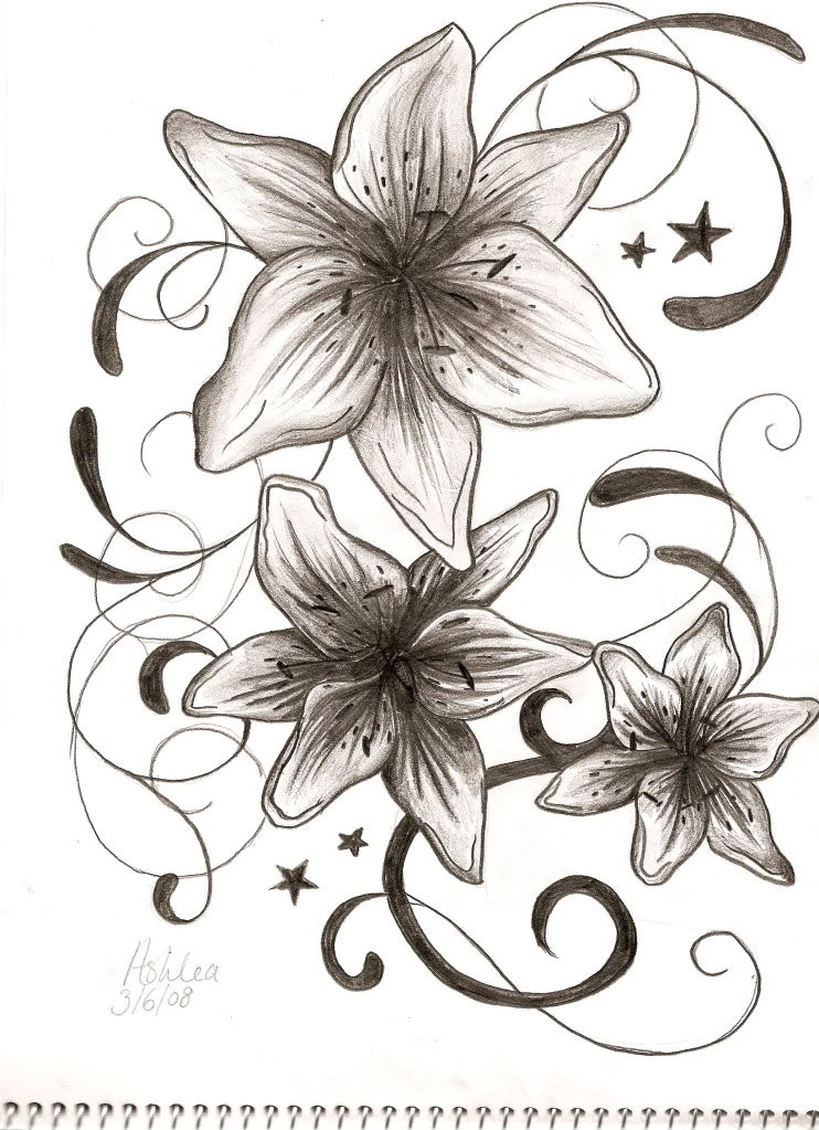 Tribal Lily Tattoo Image photo - 3