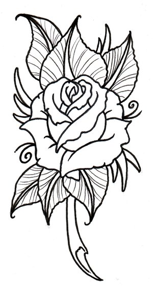 Tribal Lily Tattoo Sketch photo - 2