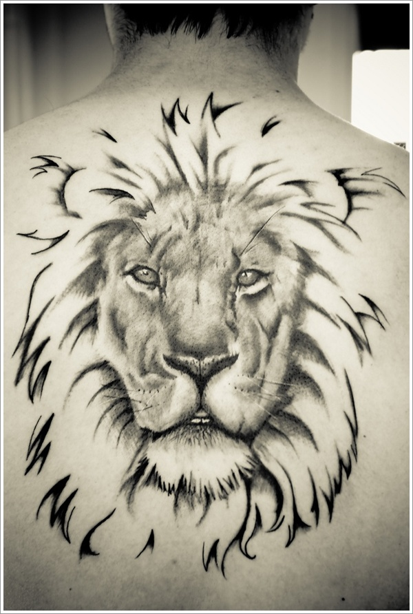 Tribal Lion Tattoo Stencil photo - 1