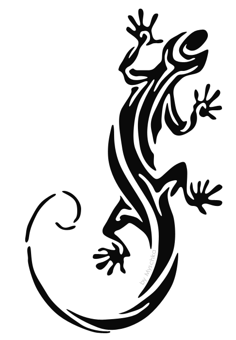 Tribal Lizard Tattoo photo - 1
