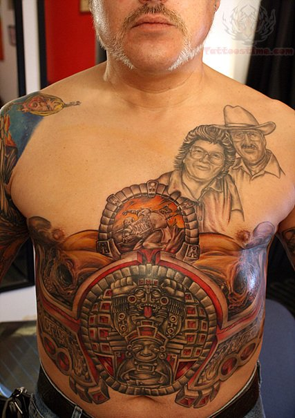 Tribal Maori Belly Button Tattoo For Men photo - 3