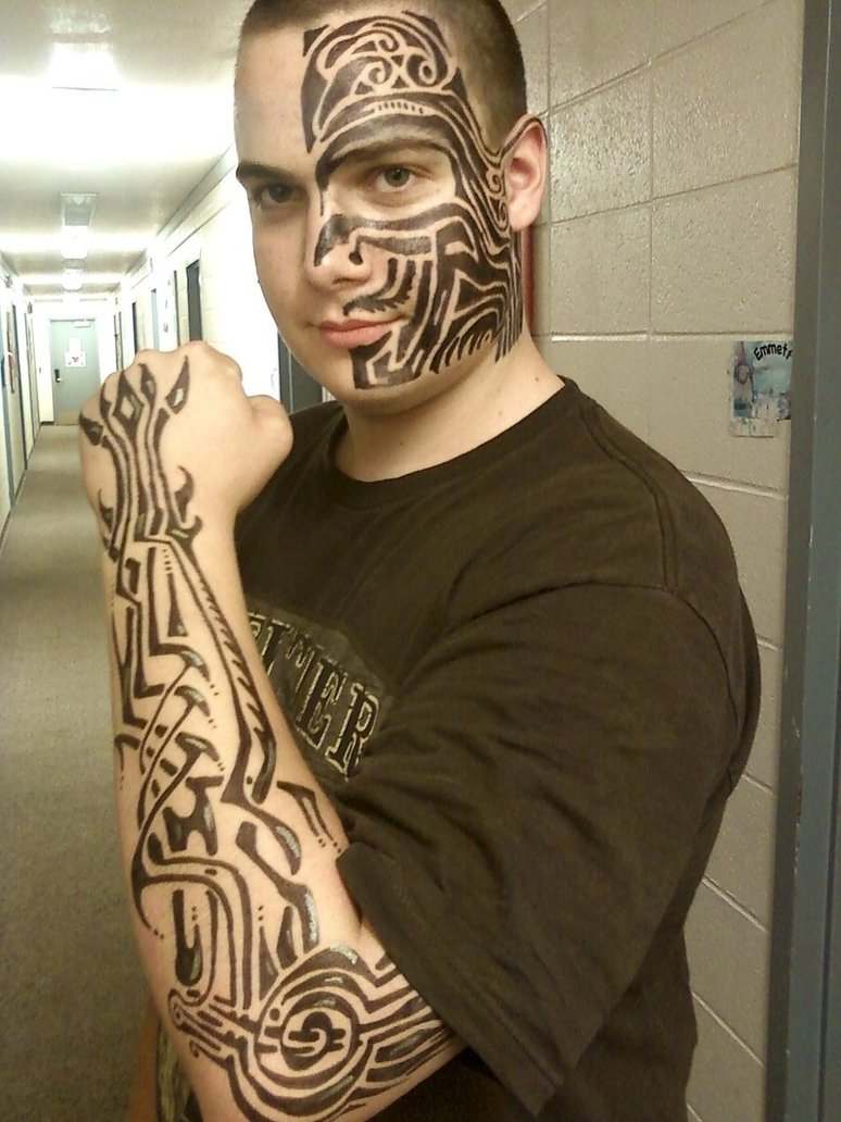 Tribal Mask Tattoo Designs photo - 2