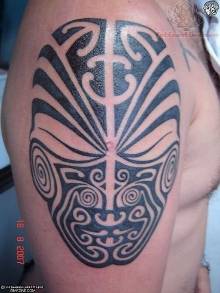 Tribal Mask Tattoo Photos photo - 1