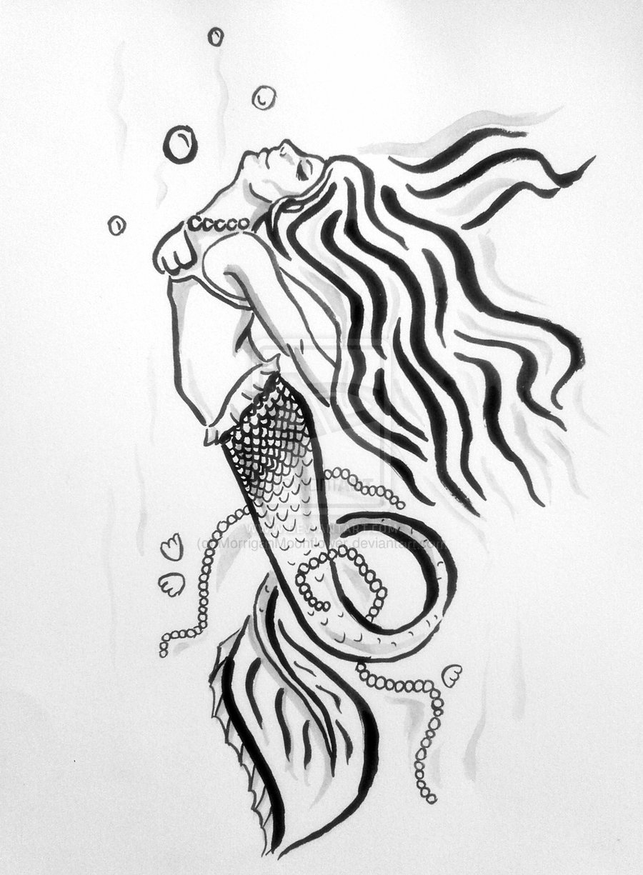 Tribal Mermaid Tattoo Image photo - 3