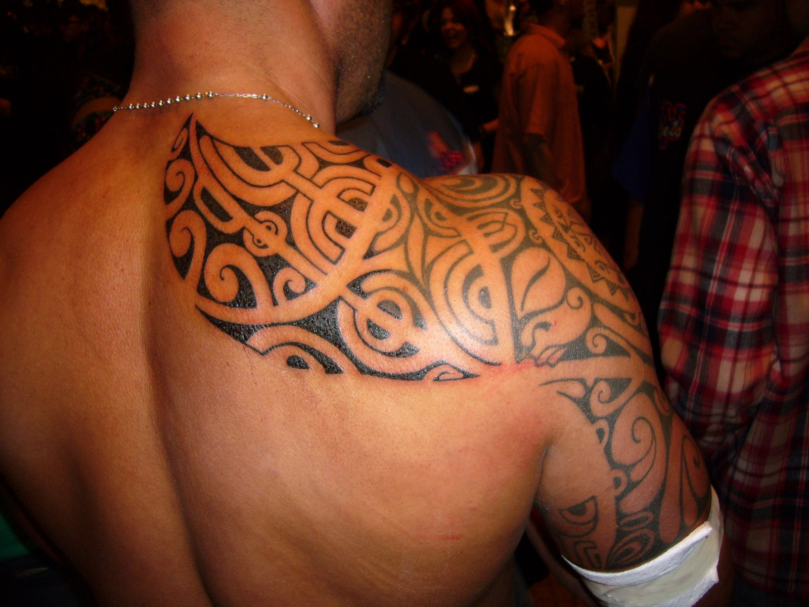 Tribal Mermaid Tattoo On Shoulder photo - 1