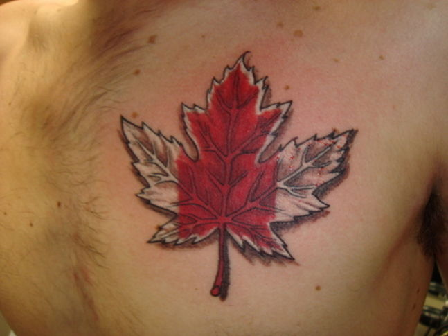 Tribal Oak Leaf Tattoo Design photo - 2