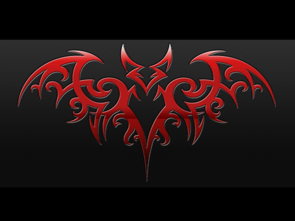 Tribal Red Bat Tattoo Design photo - 2