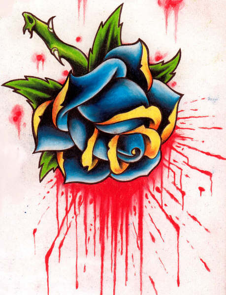 Tribal Roses Tattoo Designs photo - 1