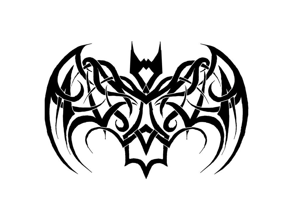 Tribal Rounded Bat Tattoo photo - 1