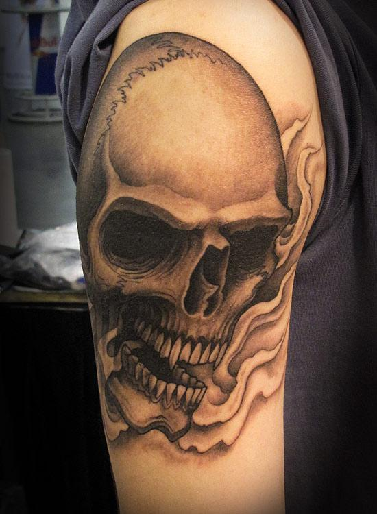 Tribal Skull And Dice Tattoo Designs photo - 3
