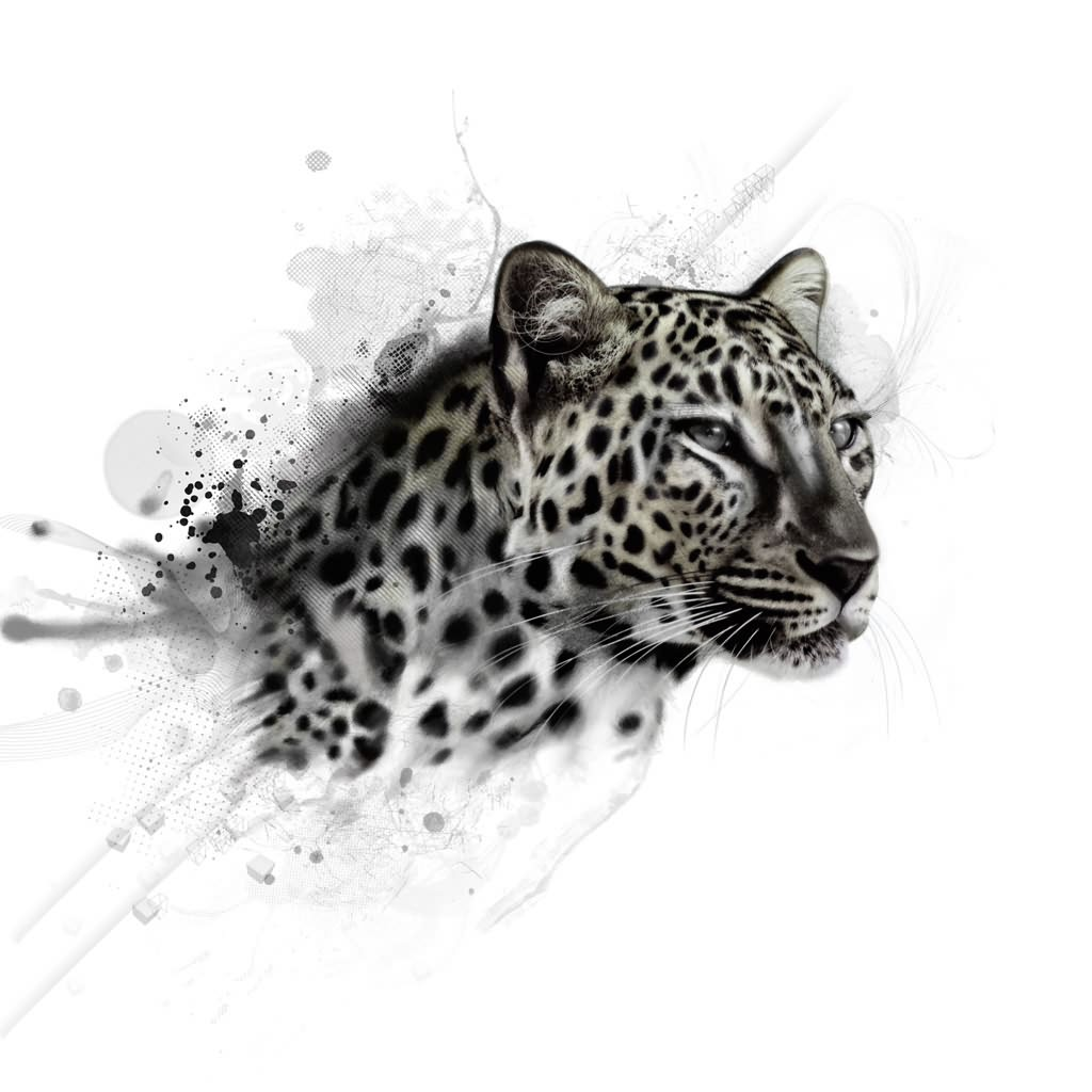 Tribal Snow Leopard Tattoo Design photo - 1