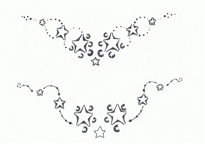 Tribal Star Tattoo Designs For Lower Back photo - 1