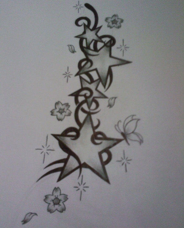 Tribal Star Tattoo Designs For Lower Back photo - 2