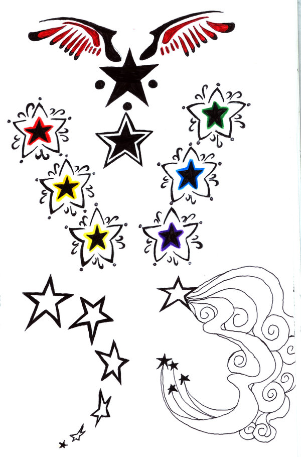 Tribal Star Tattoos On Hip photo - 1