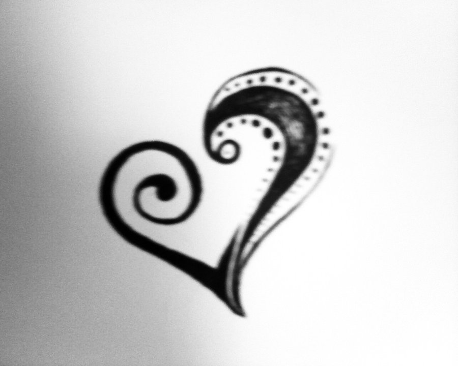 Tribal Tattoo For Women With Hearts photo - 1