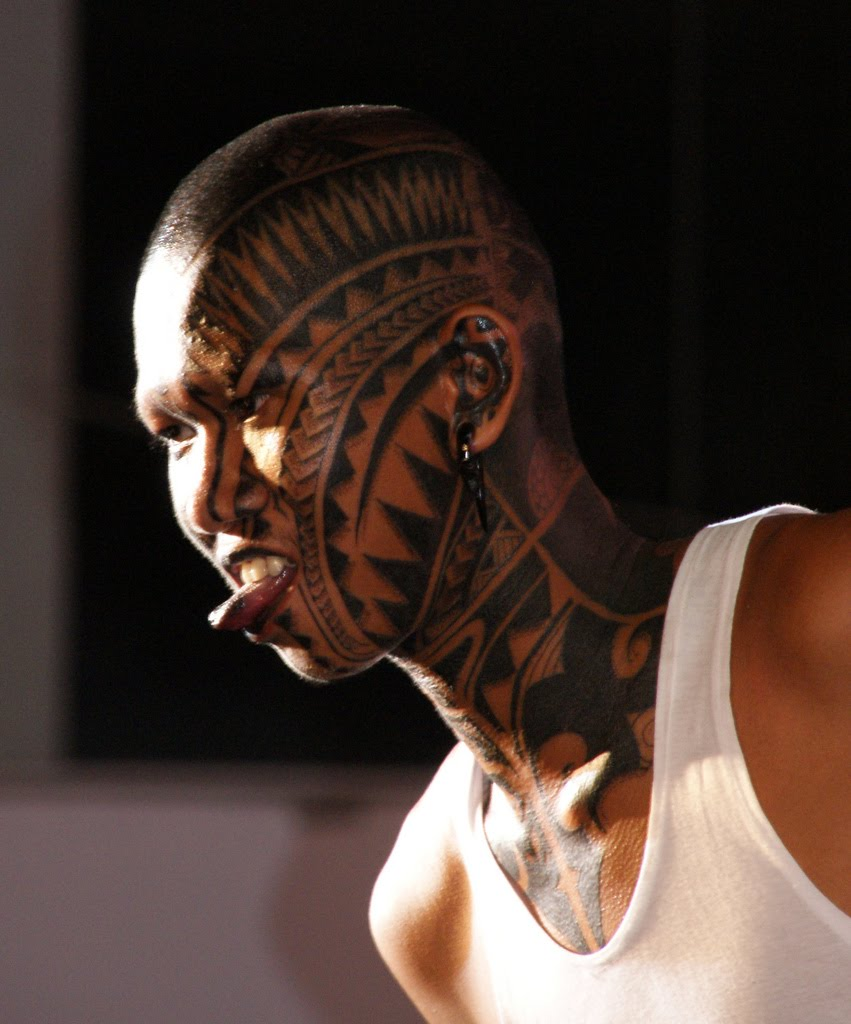 Tribal Tattoo On Celebrity Face photo - 2