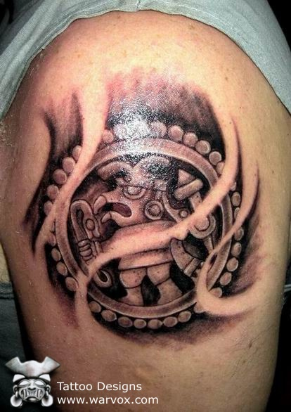 Tribal Warrior Tattoo Design photo - 2