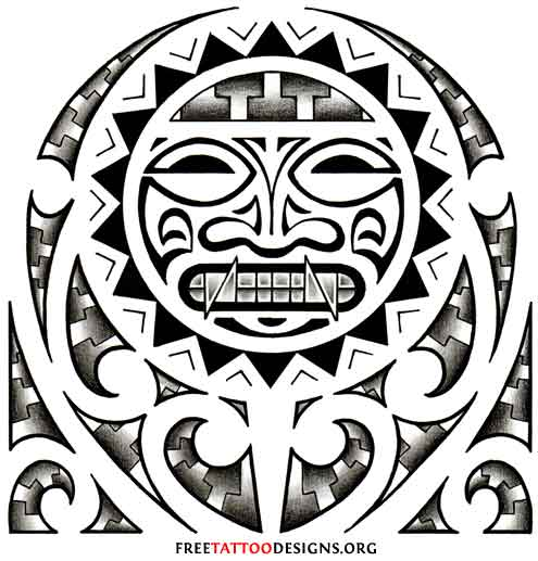 Tribal Warrior Tattoo Design photo - 3