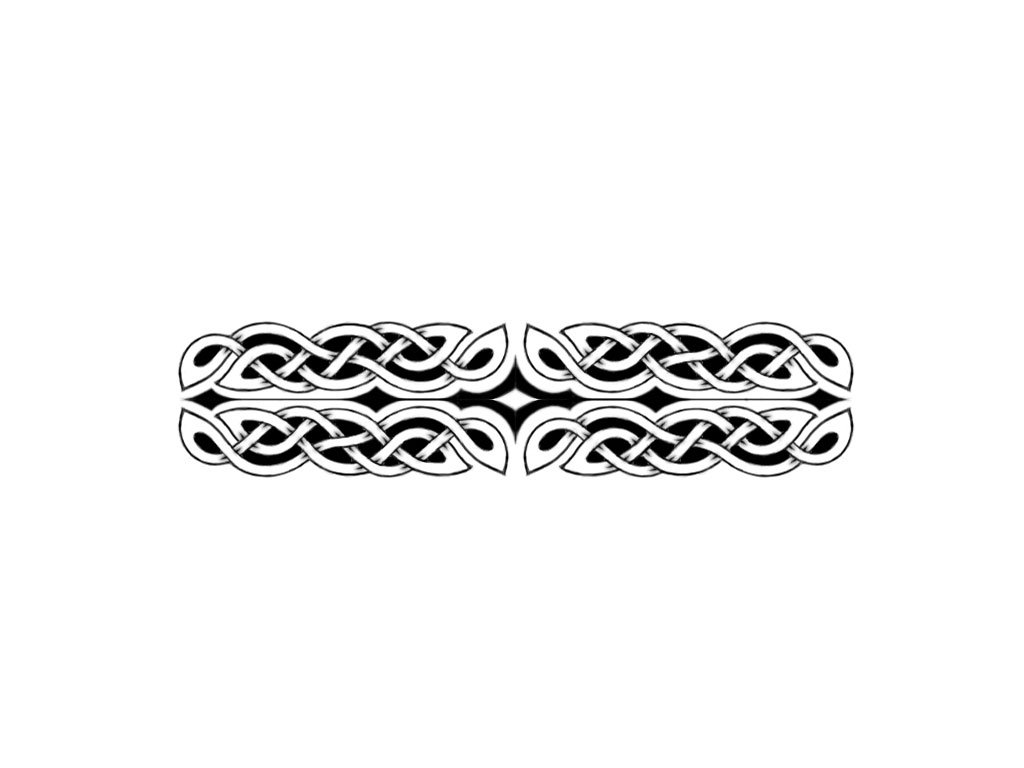 Tribal Wide Armband Tattoo Design photo - 1
