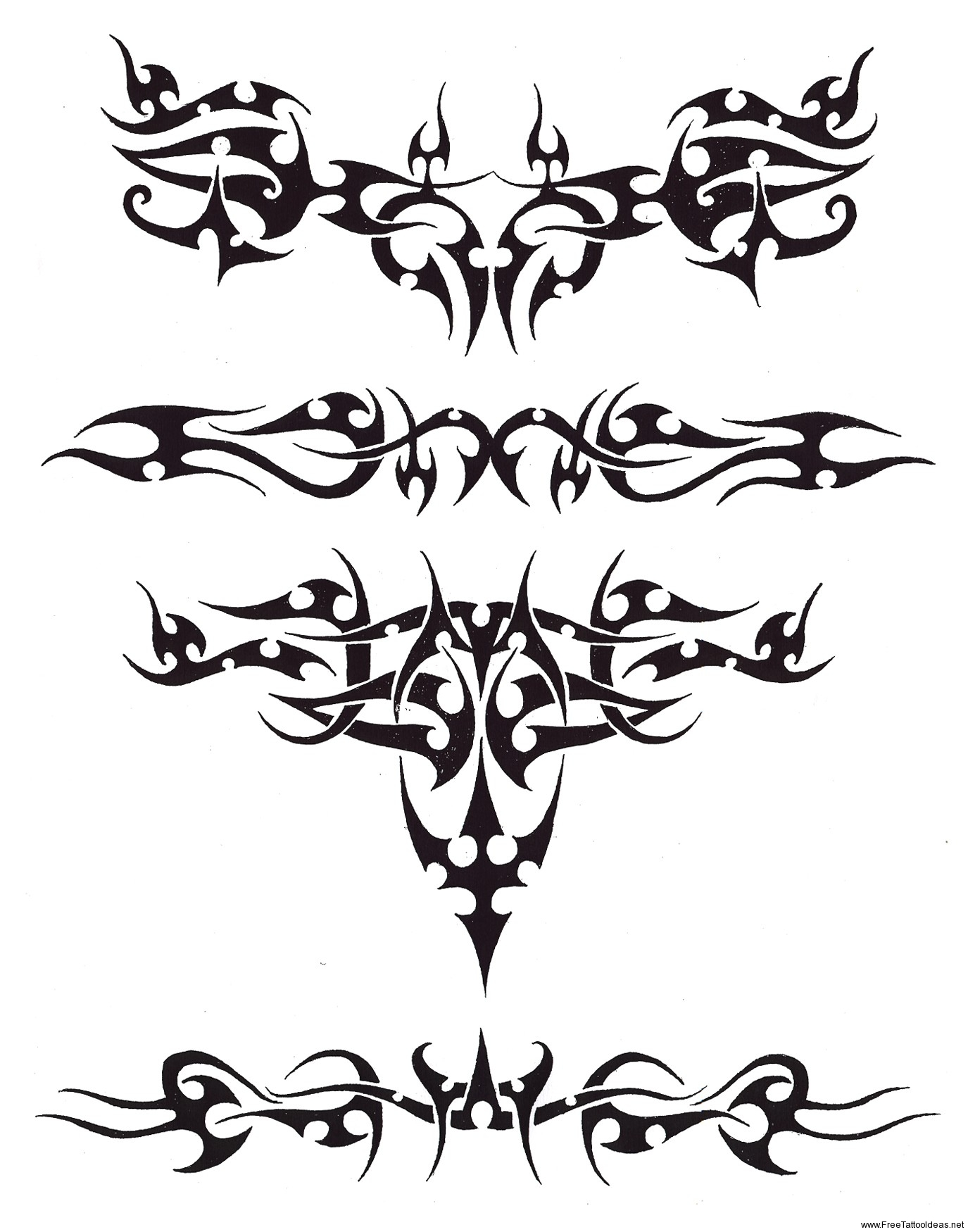 Tribal Wide Armband Tattoo Design photo - 2