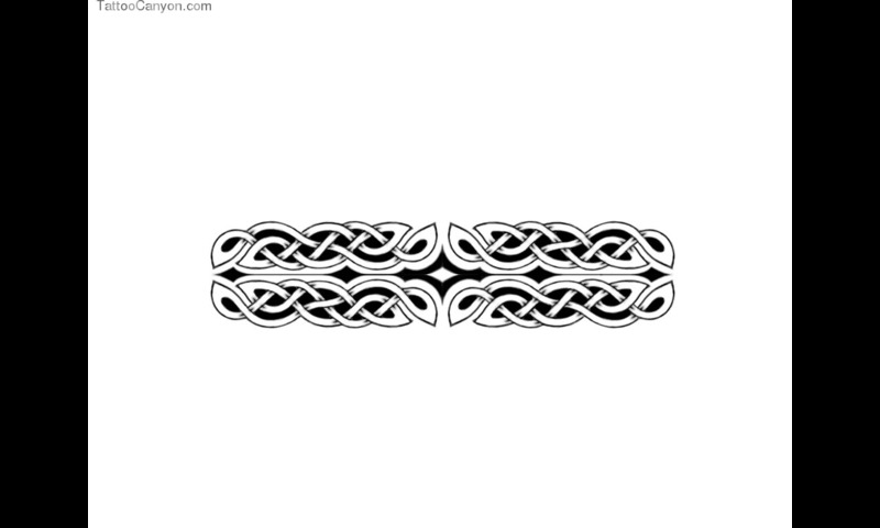 Tribal Wide Armband Tattoo Design photo - 3