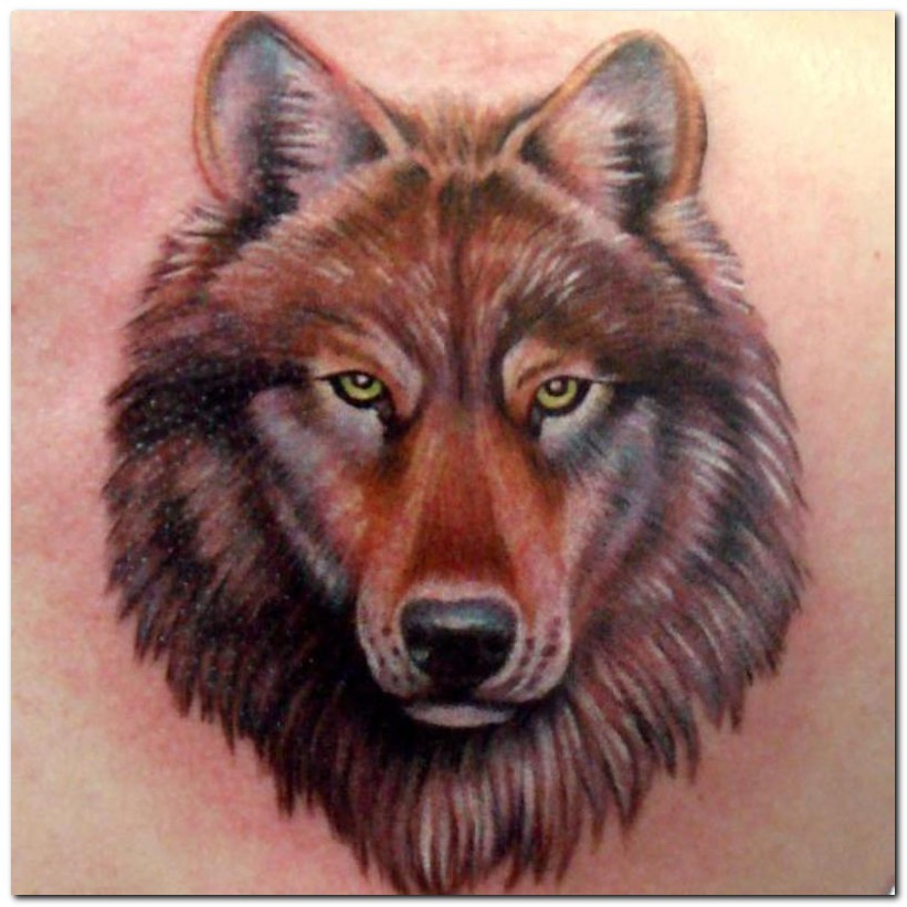 Tribal Wolf Howl Tattoo For Shoulder photo - 1