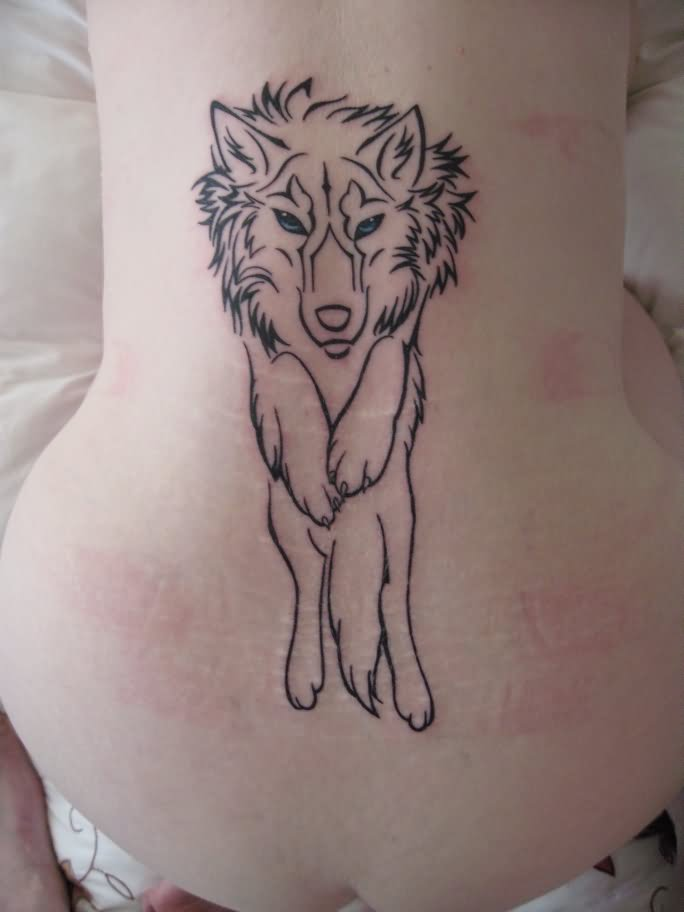 Tribal Wolf Howl Tattoo For Shoulder photo - 2