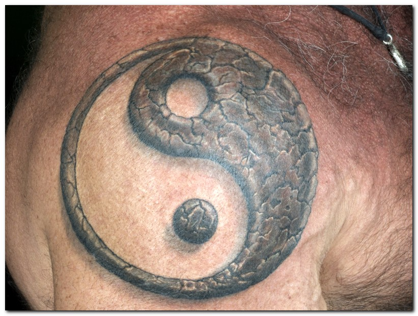 Tribal Yin Yang Tattoo For Neck photo - 1