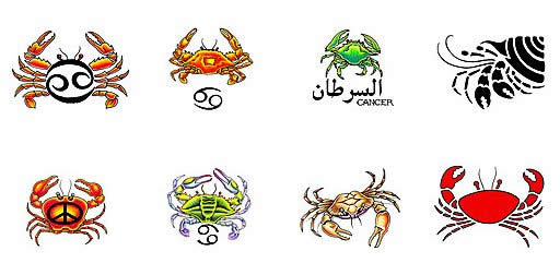 Tribal Zodiac Cancer Sign Tattoo Designs photo - 1