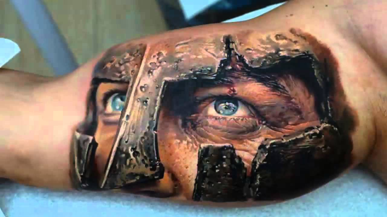 Truly Awesome 3D Tattoos On Full Chest photo - 3