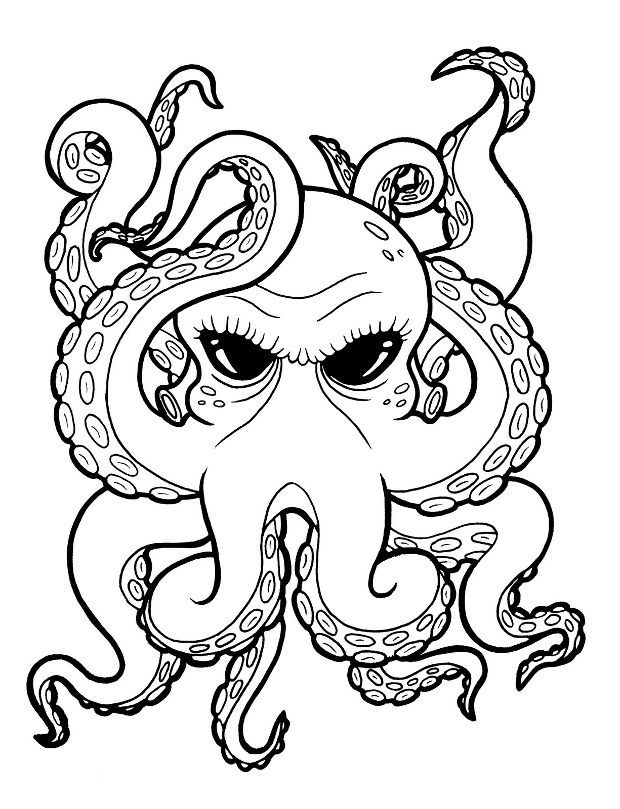 Tumblr Grey Octopus Tattoo Design photo - 1